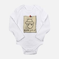 Gold Leprechaun Long Sleeve Infant Bodysuit