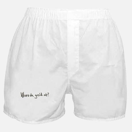Gold Leprechaun Boxer Shorts