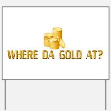 Gold Leprechaun Yard Sign