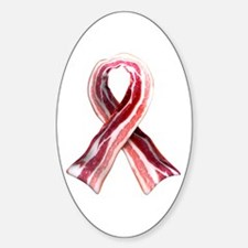 Bacon Ribbon Sticker (Oval)