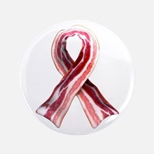 "Bacon Ribbon 3.5"" Button (100 pack)"