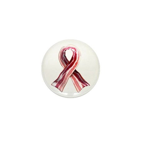 Bacon Ribbon Mini Button (100 pack)