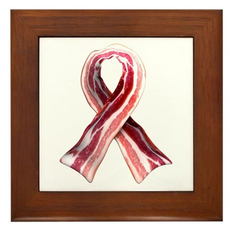 Bacon Ribbon Framed Tile