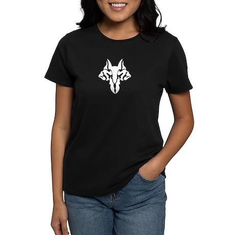 Wolf Tribal (WHITE) Women's Dark T-Shirt