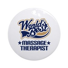 Worlds Best Massage Therapist Ornament (Round)