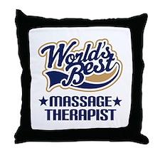 Worlds Best Massage Therapist Throw Pillow