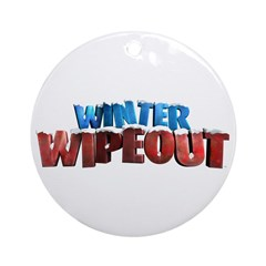 Winter Wipeout Ornament (Round)