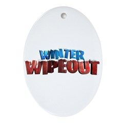 Winter Wipeout Ornament (Oval)