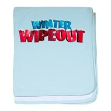 Winter Wipeout baby blanket