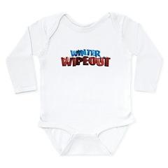 Winter Wipeout Long Sleeve Infant Bodysuit
