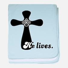 Riyah-Li Designs He Lives Infant Blanket
