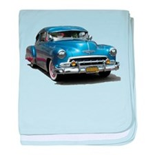 Helaine's 52 Old Blue Car baby blanket