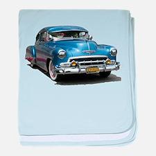 Helaine's 52 Old Blue Car baby blanket