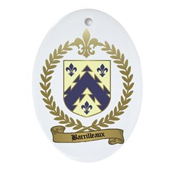BARRILLEAUX Family Crest Oval Ornament