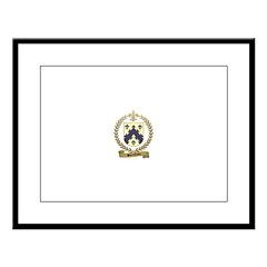 BARRILLEAUX Family Crest Large Framed Print