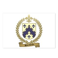 BARRILLEAUX Family Crest Postcards (Package of 8)