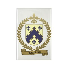 BARRILLEAUX Family Crest Rectangle Magnet (10 pack
