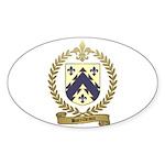 BARRILLEAUX Family Crest Oval Sticker