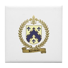 BARRILLEAUX Family Crest Tile Coaster
