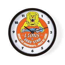 Lions Drag Strip Wall Clock