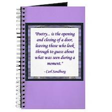 Sandburg Quote Journal