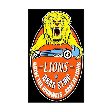 Lions Drag Strip Sticker (Rectangle)