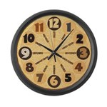 Large crop art clock 14.5 inches diameter