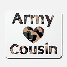 Army Cousin Heart Camo Mousepad