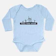 Texas Wind Farmer Long Sleeve Infant Bodysuit