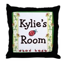Little Ladybugs Throw Pillow - Print