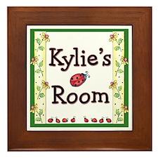 Little Ladybugs Framed Tile - Print