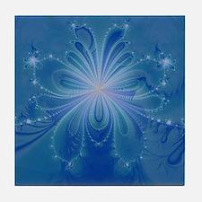 Deep Sea Jellyfish Fractal Tile Coaster