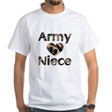 Army Niece Heart Camo Shirt