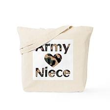Army Niece Heart Camo Tote Bag