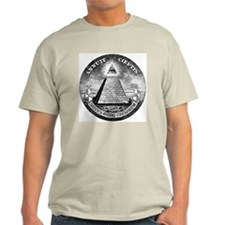 Weird Dollar Pyramid Ash Grey T-Shirt