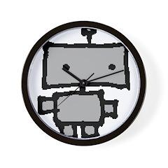 lil grey robot Wall Clock