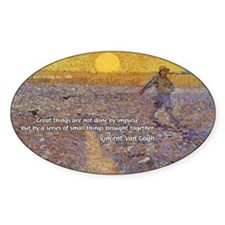 Vincent Van Gogh Paintings Oval Decal