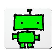 lil green robot Mousepad
