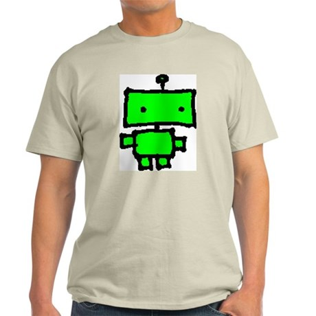 lil green robot Ash Grey T-Shirt