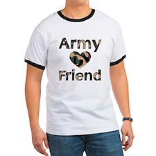 Army Friend Heart Camo T