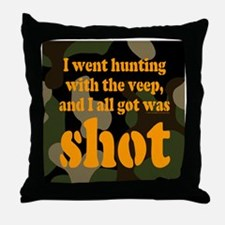 All I got was shot Throw Pillow