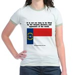 Not Our Duty North Carolina Jr. Ringer T-Shirt