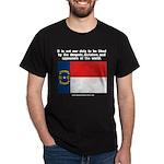 Not Our Duty North Carolina Black T-Shirt