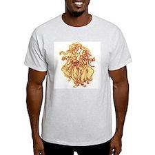 Radha Krishna Dance Ash Grey T-Shirt