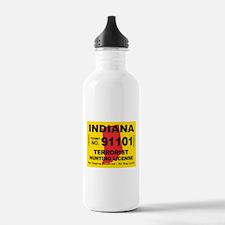 Indiana Terrorist Hunting Lic Water Bottle