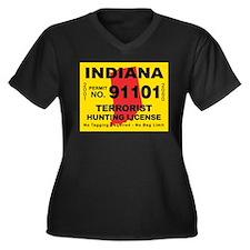 Indiana Terrorist Hunting Lic Women's Plus Size V-