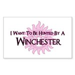 I Want To Be Hunted By A Winc Sticker (Rectangle)