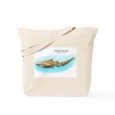 Zebra Shark Tote Bag