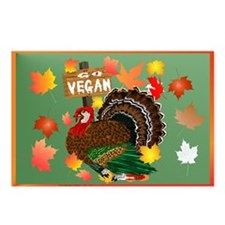 Go Vegan! Thanksgiving Postcards (Package of 8)