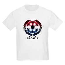 Croatia Soccer Flag Kids T-Shirt